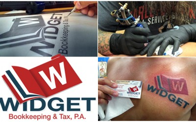 P3 agency Widget Tattoo