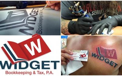 P3 agency Widget Tattoo